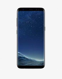A Samsung smartphone, Samsung Galaxy Note 8, black.