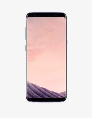 A Samsung smartphone, the Samsung Galaxy S8 Plus, black.