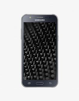Front image of the Samsung Galaxy J5 2017 Dual SIM, black.
