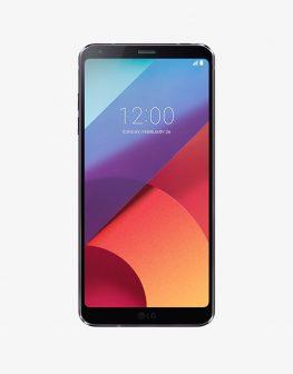 The LG smartphone, an LG G6, black.