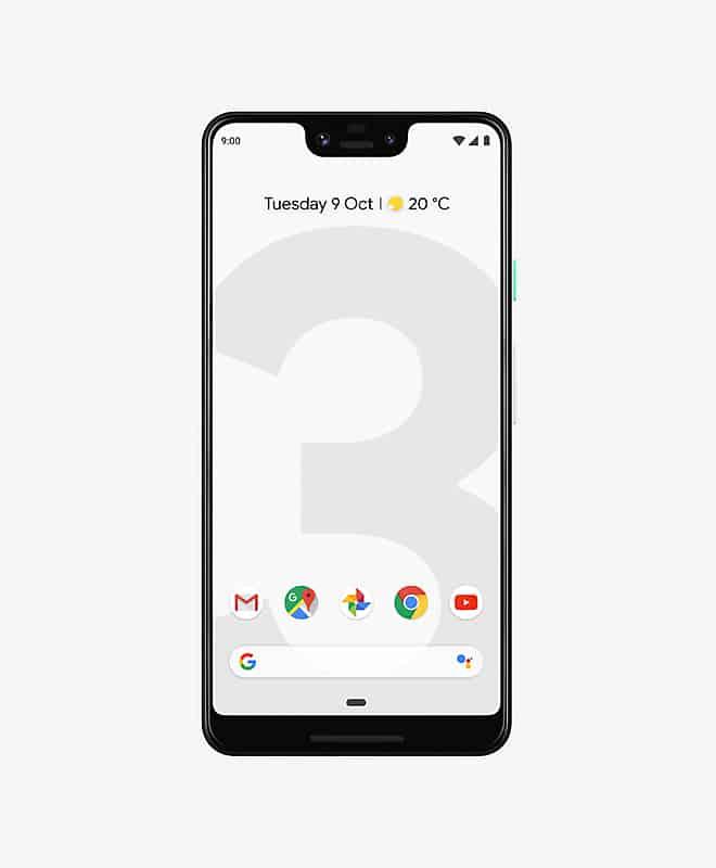 google-pixel-3-xl-white-front