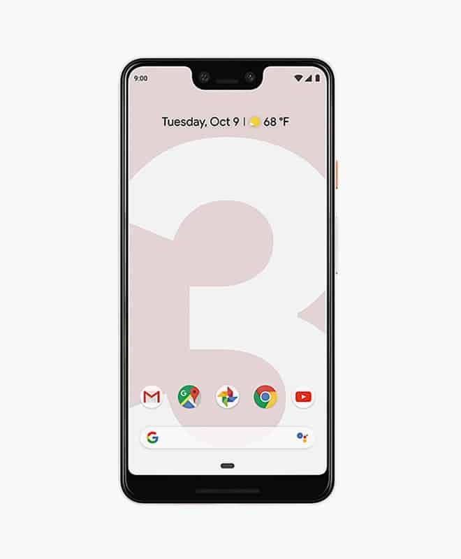 google-pixel-3-xl-pink-front