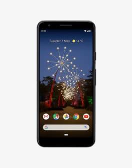 Google Pixel 3a black front
