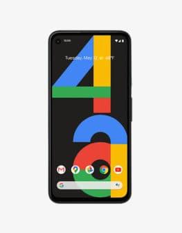 google pixel 4a black front